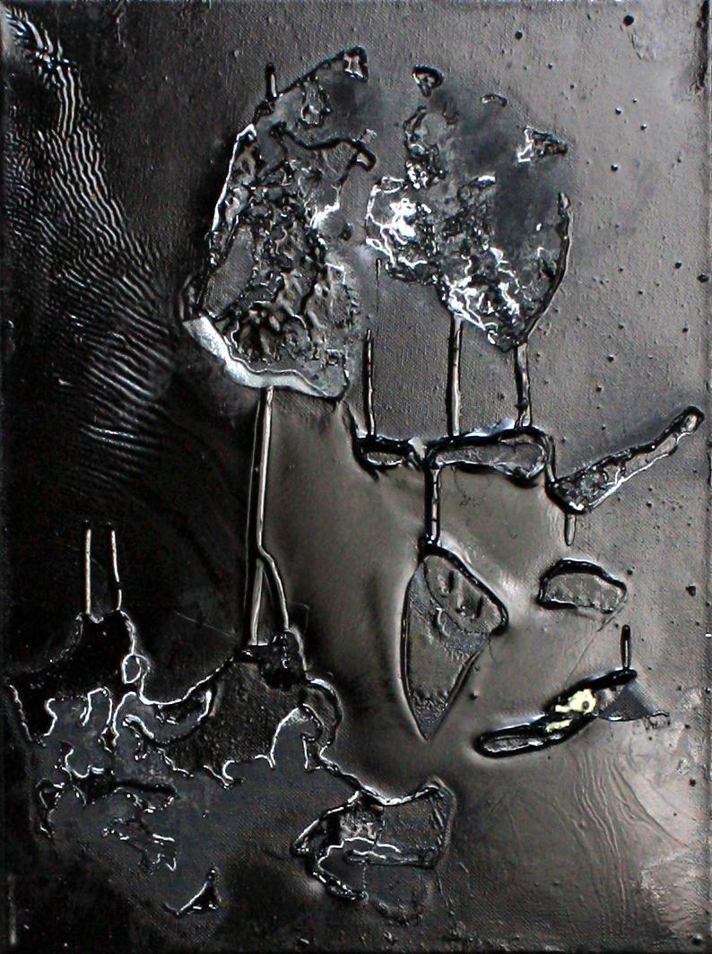 Abstrakt 11 | Lack, Mixed Media | 30 x 40 cm