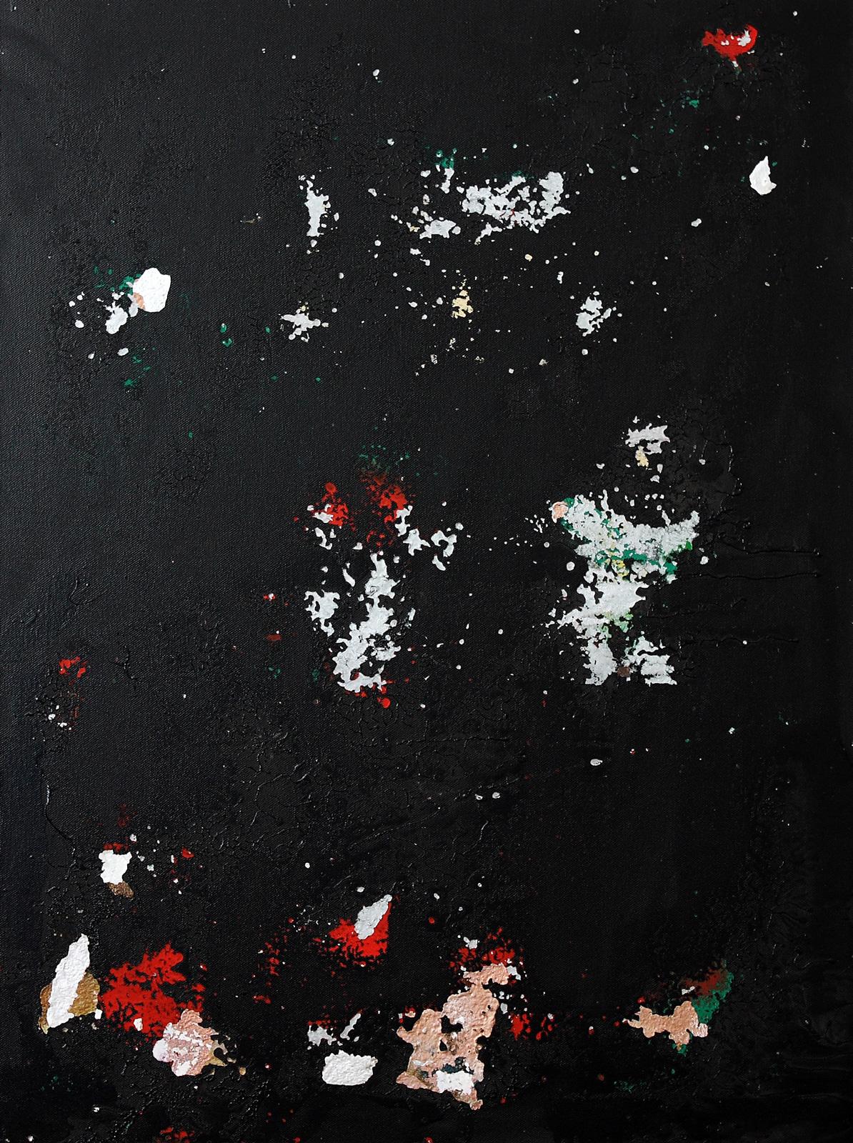 Abstrakt 17 | Lack, Mixed Media | 60 x 80 cm